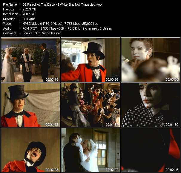 Panic! At The Disco video - I Write Sins Not Tragedies