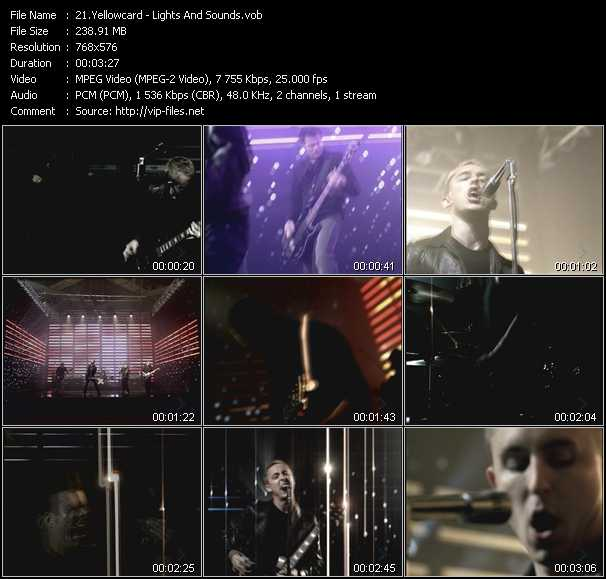 Yellowcard video - Lights And Sounds