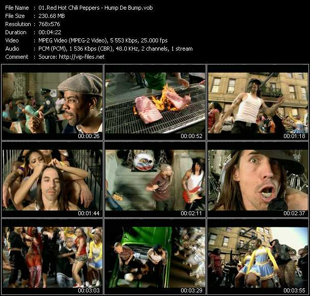 Red Hot Chili Peppers video - Hump De Bump