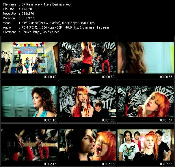 Paramore video - Misery Business