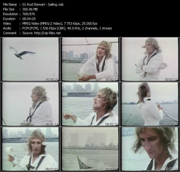 Rod Stewart video - Sailing