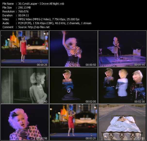 Cyndi Lauper video - I Drove All Night