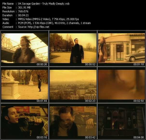 Savage Garden video - Truly Madly Deeply