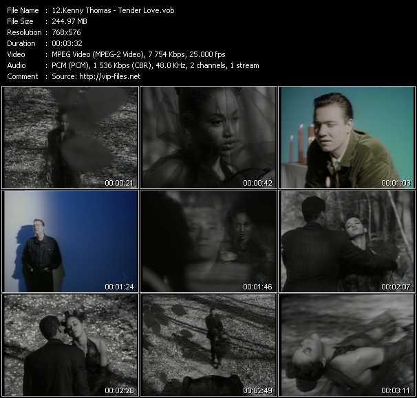 Kenny Thomas video - Tender Love