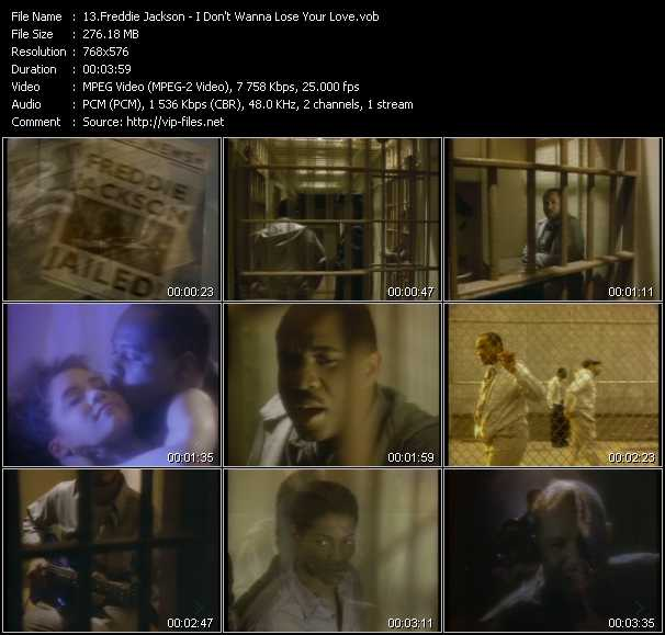 Freddie Jackson video - I Don't Wanna Lose Your Love