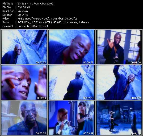 Seal video - Kiss From A Rose