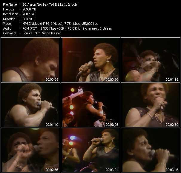 Aaron Neville music video Florenfile
