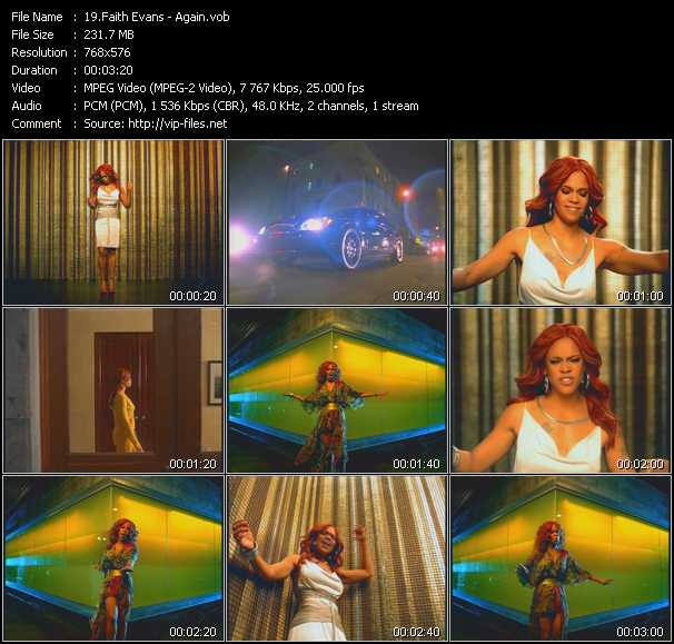 Faith Evans video - Again