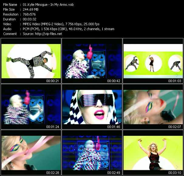 Kylie Minogue video - In My Arms