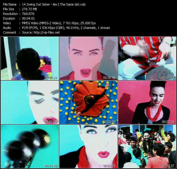 Swing Out Sister HQ Videoclip «Am I The Same Girl»