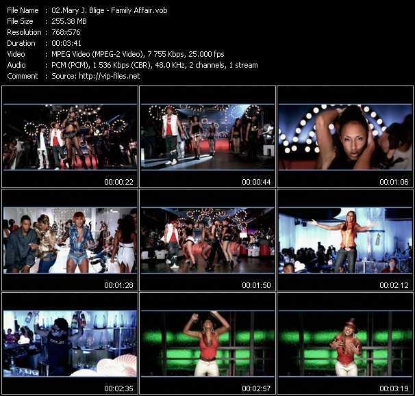 Mary J. Blige video - Family Affair