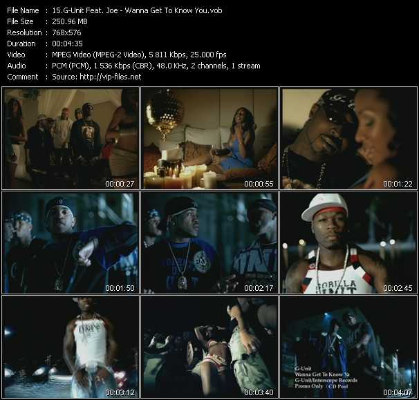 G-Unit Feat. Joe video - Wanna Get To Know You