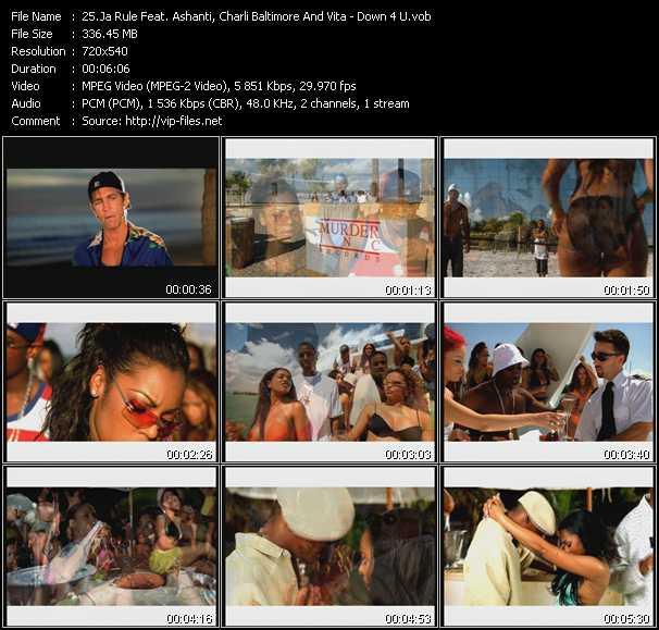 Ja Rule Feat. Ashanti, Charli Chuck Baltimore And Vita video - Down 4 U