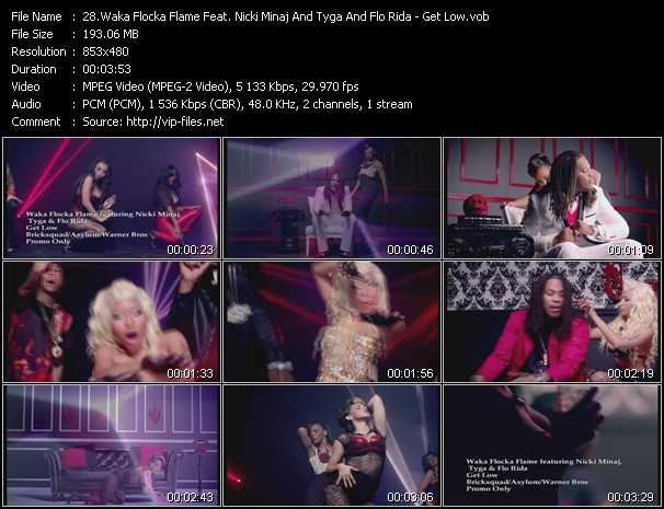 Waka Flocka Flame Feat. Nicki Minaj And Tyga And Flo Rida video - Get Low