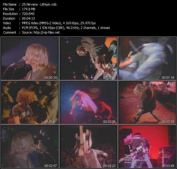 Nirvana video - Lithium