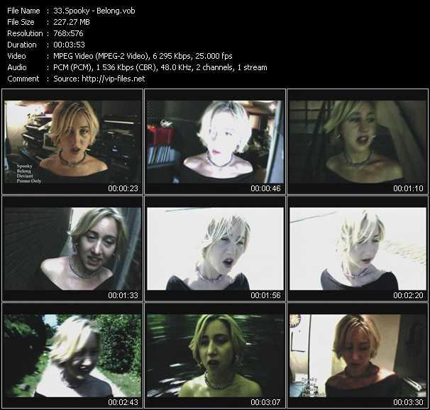 Spooky video - Belong
