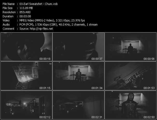 Earl Sweatshirt music video Publish2