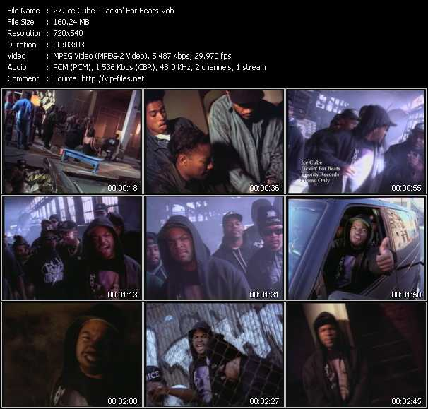 Ice Cube video - Jackin' For Beats