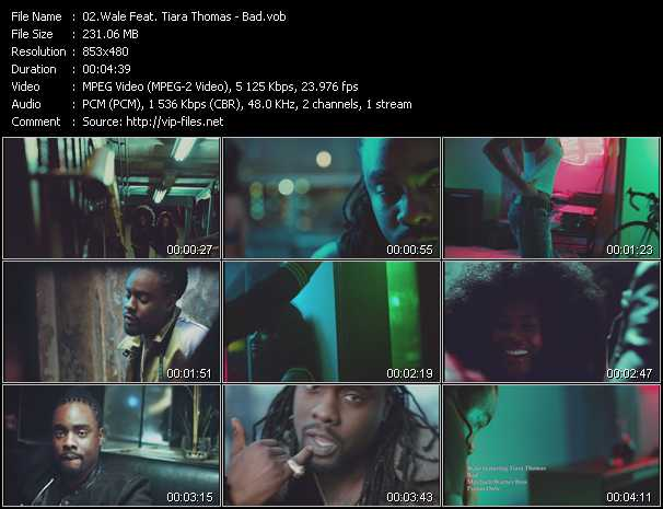 Wale Feat. Tiara Thomas video - Bad