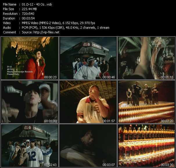 D12 video - 40 Oz.