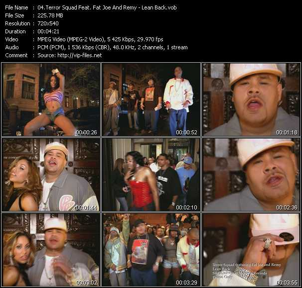 Terror Squad Feat. Fat Joe And Remy video - Lean Back
