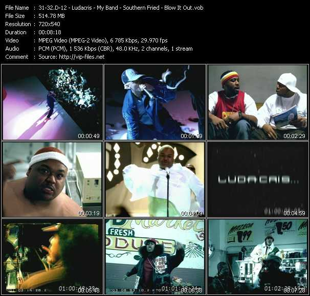 D12 - Ludacris video - My Band - Southern Fried - Blow It Out