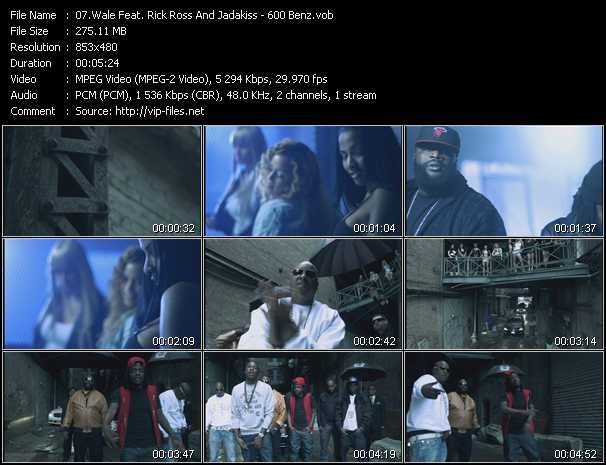 Wale Feat. Rick Ross And Jadakiss video - 600 Benz