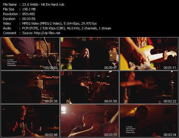 G Webb video - Hit Em Hard