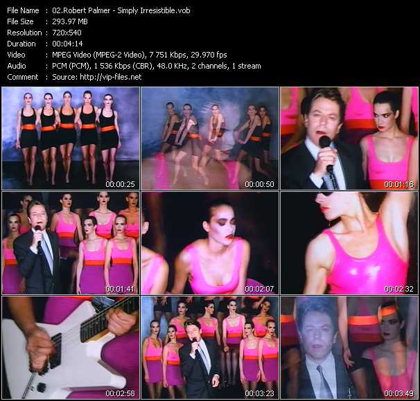 Robert Palmer video - Simply Irresistible