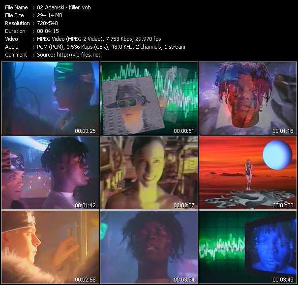 Adamski music video Florenfile
