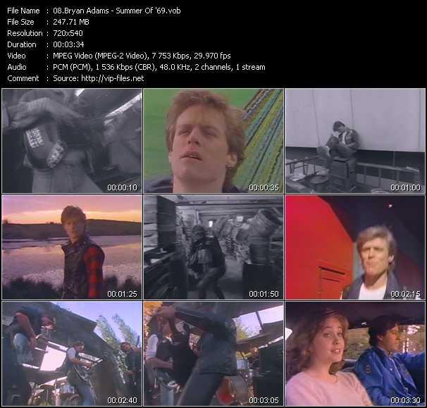 B. Adams video - Summer Of '69