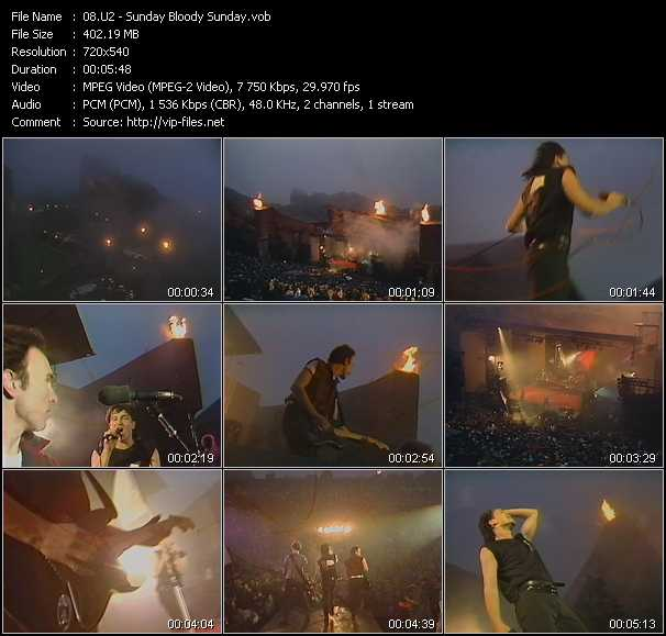 U2 video - Sunday Bloody Sunday
