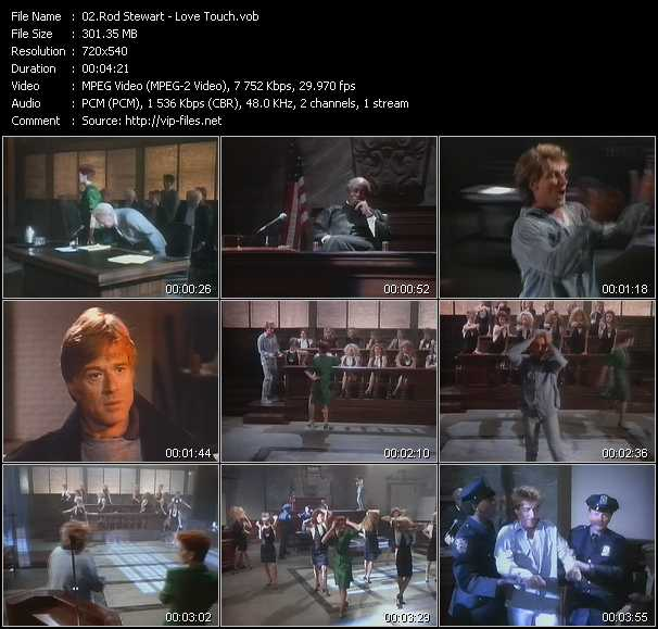 Rod Stewart video - Love Touch