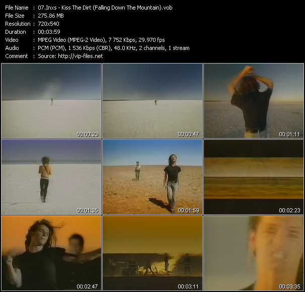 Inxs video - Kiss The Dirt (Falling Down The Mountain)