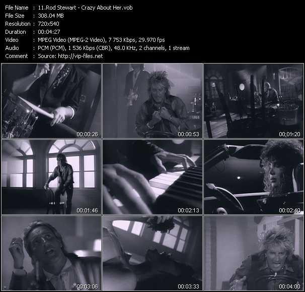 Rod Stewart video - Crazy About Her