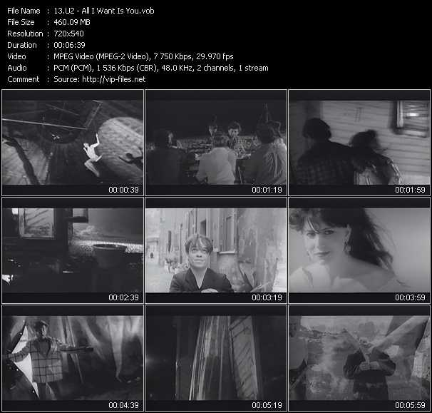 U2 video - All I Want Is You