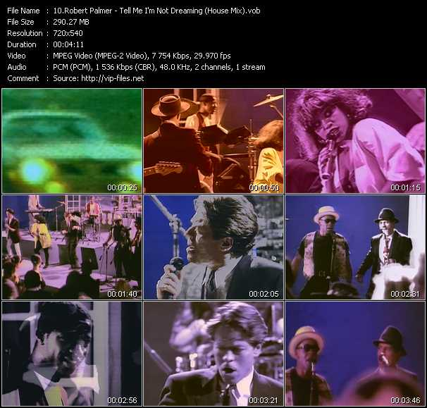 Robert Palmer video - Tell Me I'm Not Dreaming (House Mix)