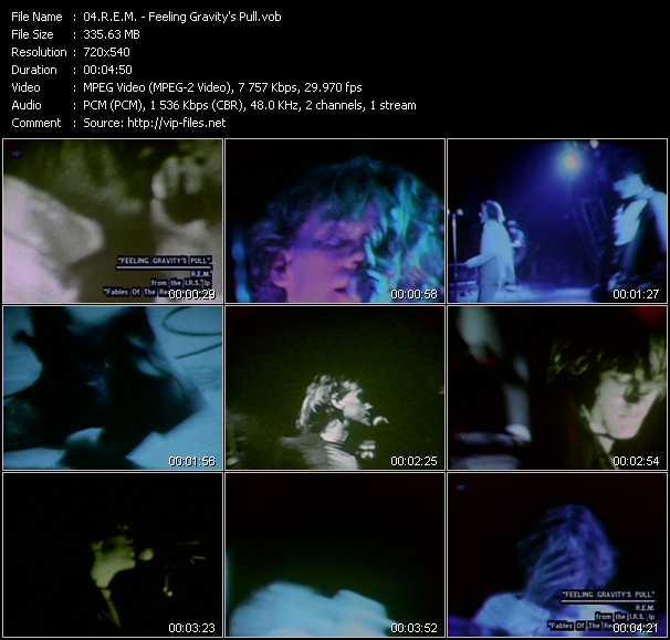 R.E.M. video - Feeling Gravity's Pull