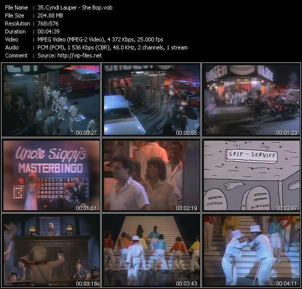 Cyndi Lauper video - She Bop