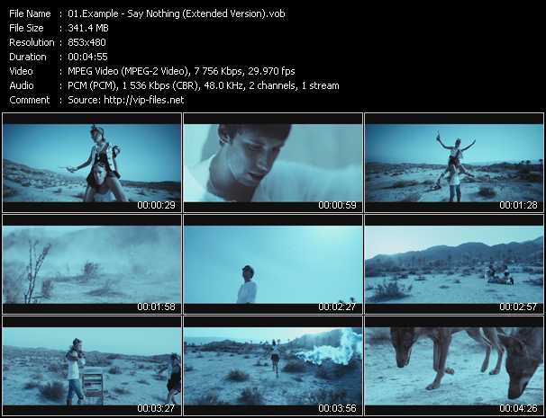 Example video - Say Nothing (Extended Version)