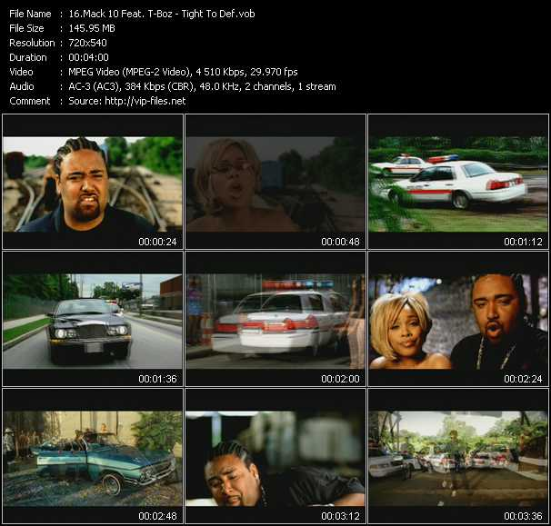 Mack 10 Feat. T-Boz video - Tight To Def