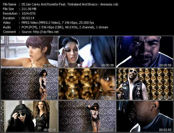 Ian Carey And Rosette Feat. Timbaland And Brasco video - Amnesia