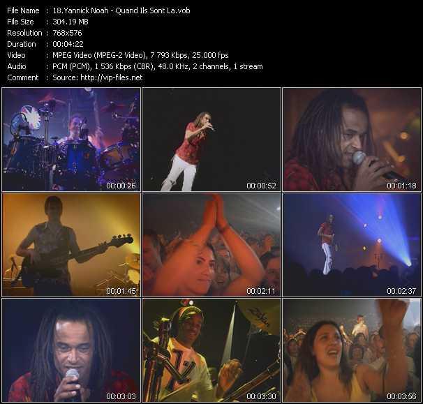 Yannick Noah video - Quand Ils Sont La