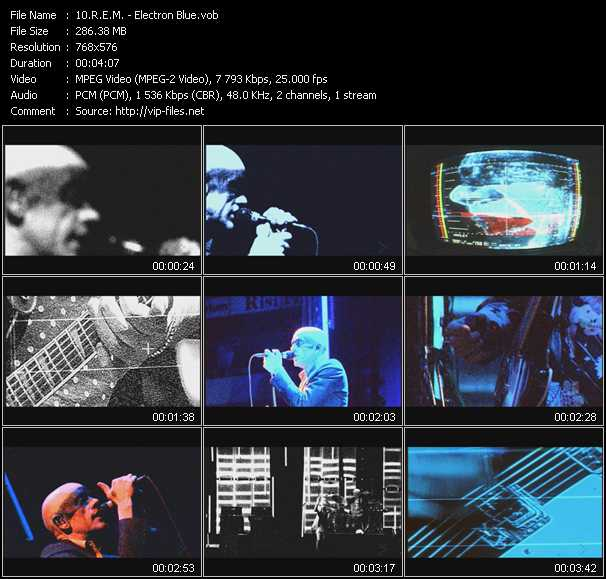 R.E.M. video - Electron Blue