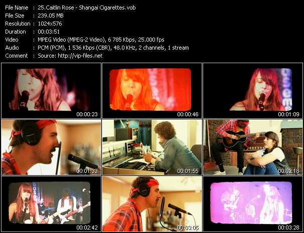 Caitlin Rose video - Shangai Cigarettes