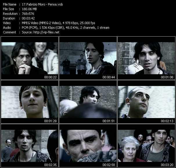 Fabrizio Moro video - Pensa