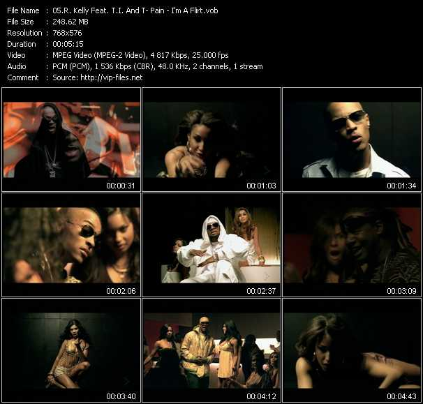 R. Kelly Feat. T.I. And T-Pain video - I'm A Flirt