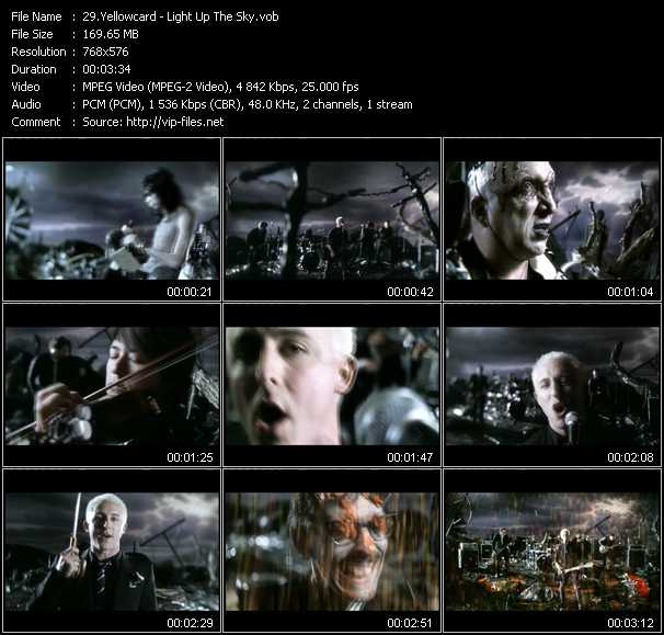 Yellowcard video - Light Up The Sky