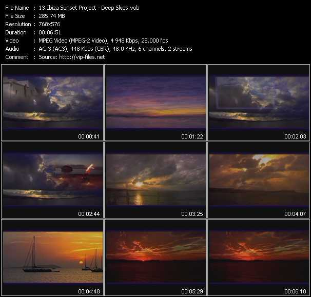 Ibiza Sunset Project video - Deep Skies
