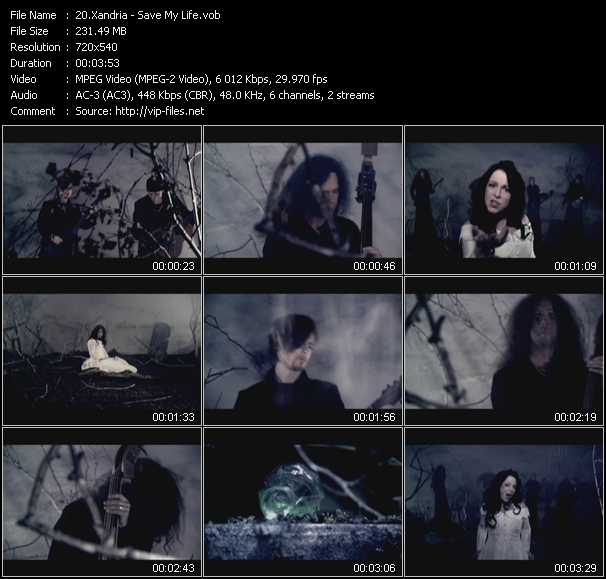 Xandria video - Save My Life